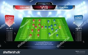 Soccer Lineups Soccer Team Lineup Template Seraffino Com