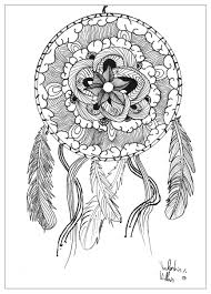 History Of Dream Catchers For Kids Dream Catchers Coloring Pages For Adults JustColor 92