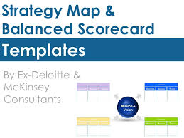 Scorecard Template Strategy Map Template Balanced Scorecard Template By Ex