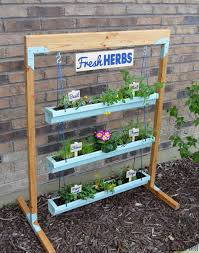 Kitchen Herb Garden Planter Hanging Gutter Planter And Stand Her Tool Belt