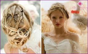 Prýmky Na Svatbě Fotografie Krásných účesů Pro Dlouhé A Střední Vlasy