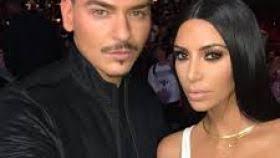 beauty icons kim kardashian and makeup artist mario dedivanovic