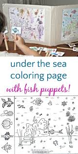 You can also create your own ocean coloring. Ocean Coloring Page With Fish Puppets