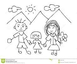 Vector Lillustrazione Dei Disegni Dei Bambini I Bambini Che
