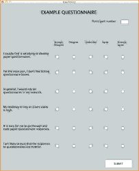 Template Questionnaire Word Agree Scale Maker Survey Disagree Template Likert Question Examples