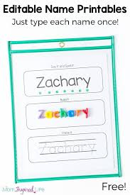 Free Editable Name Tracing Printable Worksheets for Name Practice