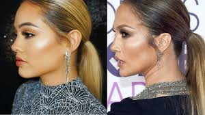 jennifer lopez jlo makeup and hair tutorial peoples choice awards 2017