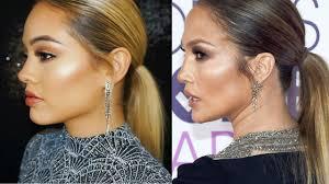 jennifer lopez jlo makeup and hair tutorial peoples choice awards 2017