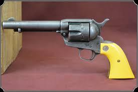 Z Sold John Wayne Yellow New Old Stock Colt Saa Grips
