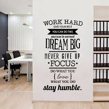 Us 661 8 Offoffice Motivational Quotes Wall Sticker Never Give Up Work Hard Vinyl Wall Decal In Wall Stickers From Home Garden On Aliexpresscom