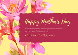 Mothers Greeting Card Customize 1 640 Mothers Day Card Templates Online Canva
