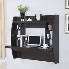 wall mounted office desk. wall mount floating computer desk storage shelves home office laptop table black mounted