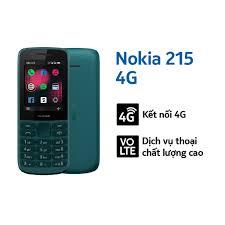 Mã 208ELSALE hoàn 7% xu đơn 300K] Điện thoại di động Nokia 215 4G Dual Sim  (2020) - Hàng Chính Hãng