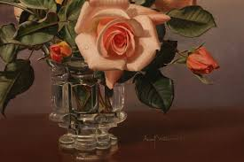 roses oil painting by albert williams