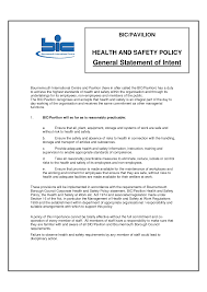 Safety Statement Template Health And Safety Statement Best Template Collection 1