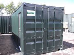 20ft Container Conversion w/ Shelving & Personnel Doors for Stores