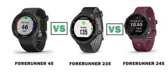 Garmin Watch Comparison Chart 2015 Garmin Forerunner 45 Vs 235 Vs 245 Compared Smartwatch Series
