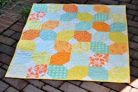 Citrus and Mint Baby Quilt + Free Pattern | Craft Buds & Half Snowballs: Quick Baby Quilt Tutorial + Free Pattern Adamdwight.com