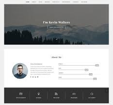 Best Html Resume Templates For Awesome Personal Websites Free
