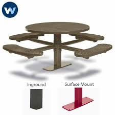 signature series 46 round pedestal tables with 4 seats basic frame inground or loading zoom