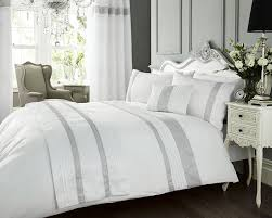 White King Duvet Cover Set - Diamante Bed Linen / Bedding WOW ... & White King Duvet Cover Set - Diamante Bed Linen / Bedding WOW Factor by  Portfolio: Amazon.co.uk: Kitchen & Home Adamdwight.com