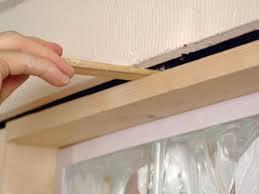 install entire framed glass block insert into wall