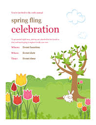Spring Event Flyer Spring Event Flyer Template Spring Festivities Flyer Lamp Flyers