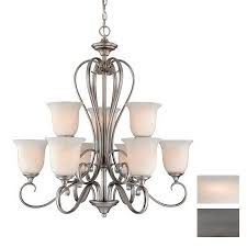 cascadia lighting riviera 9 light antique pewter chandelier