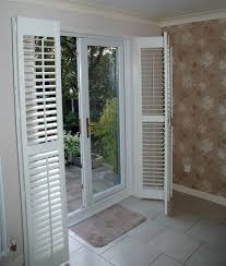 blinds for patio doors. Perfect For Patio Door Shutters These Plantation Shutters Are Of The Bifold Type  Covering A Patio Door Supplied And Installed By Shutter Master  With Blinds For Doors