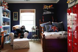 cool bedroom design black. cool boys bedroom interior design idea for tween with black wall and red cabinets