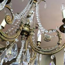measures total height without chain diameter weight empire crystal chandelier old ceiling lamp brass