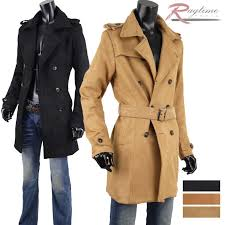 trench coat men fake suede cloth semi long suede cloth like winter outer winter coat b291129 01