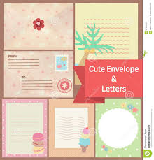 Letters Stationery Cute Vintage Pastel Letters And Envelope Paper Stationery Templa
