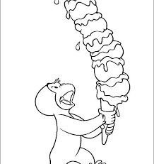 curious george coloring picture keelans first second birthdays coloring book pages curious george pictures to color