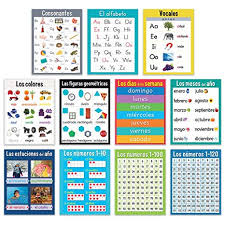 Amazon Com Creative Teaching Press Spanish Chart Teaching
