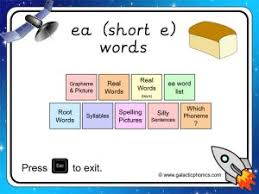 These free phonics worksheets explore the different ways that letters may sound. Ea Short E Phonics Worksheets And Games Galactic Phonics