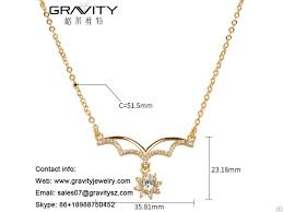 customize fashion 18k gold color imitation jewelry diamond necklace