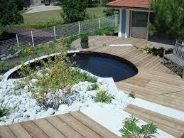 Construction De Terrasse En Bois Et Muret De Jardin Annemasse Terrasse En Bois Avec Bassin