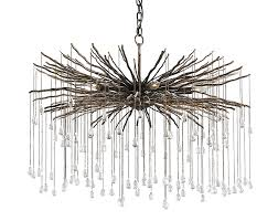 bronze branch and crystal chandelier