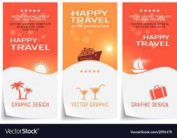 Travel Banner Poster Sticker Flyer Ticket