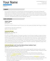 resume template for construction 30052017 construction manager resume sample