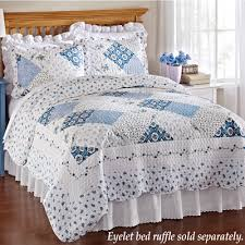 blue and white bedspread. Interesting White Wilmington Blue And White Quilt Inside And Bedspread