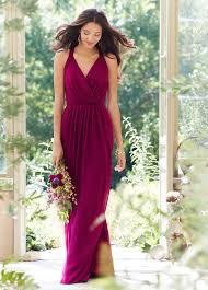 azalea v neck strap back draped chiffon a line long bridesmaid