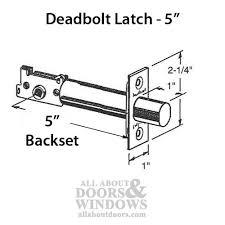 kwikset deadbolt latch 5 inch backset brushed satin chrome