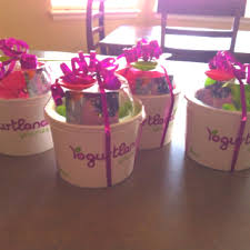 teachers end of year gifts stuffed with tissue paper and yogurtland gift card try cherry berry