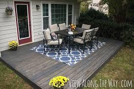 diy patio deck concrete patio cover up ideas concrete patio diy outdoor deck box