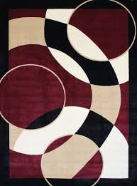 modern carpet texture. 1052 Burgundy 5\u00272x7\u00272 Area Rugs Modern Contemporary Abstract Black Ivory Beige Carpet Texture 0