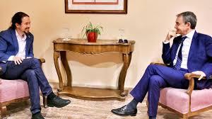 Iglesias y Zapatero se reúnen en San Lorenzo de El Escorial - Faro de Vigo