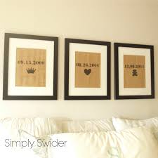 Master Bedroom Wall Art Burlap Art In Bedroom Love The Dates And Symbols For Master