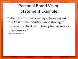 my vision statement sample personal branding statement examples military bralicious co